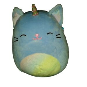Courtney the caticorn squishmallow. 8 inches. Blue/rainbow